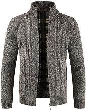 Sunward Coat for Men,Fashion Men's Autumn Winter Casual Zipper Jacket Knit Cardigan Long Sleeve Coat