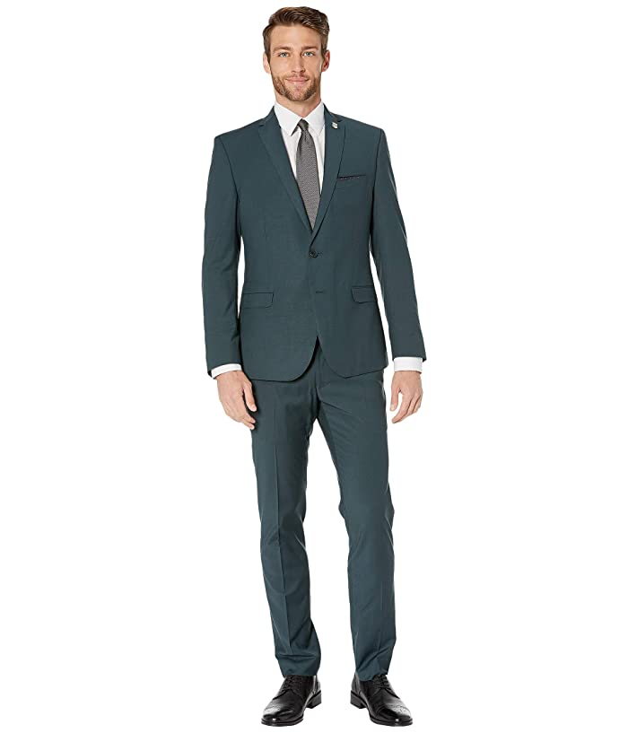 Nick Graham  Solid Suit (Green) Mens Suits Sets