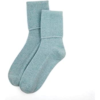 Foxbury Womens//Ladies Cashmere Blend Socks W532 4 Pairs