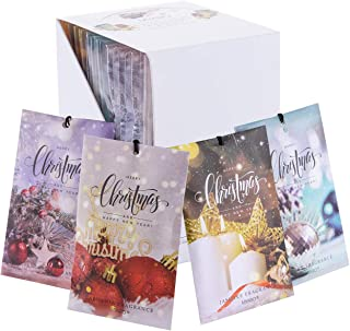 MYARO 12 Packs Scented Sachets for Drawer and Closet, Long-Lasting Christmas Sachets Bags Home Fragrance Sachet 4 Scents O...