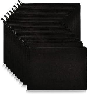 Canvas Pouch Blank, KOOLMOX 16 Pack 9''x7'' Large Canvas Zipper Pouch, Plain Black Canvas Pencil Bag for Pen Bags, Cosmeti...
