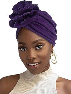 HOMELEX أغطية الرأس العمامة تمتد جيرسي متماسكة أغطية الرأس التفاف وشاح عمامة التعادل للنساء