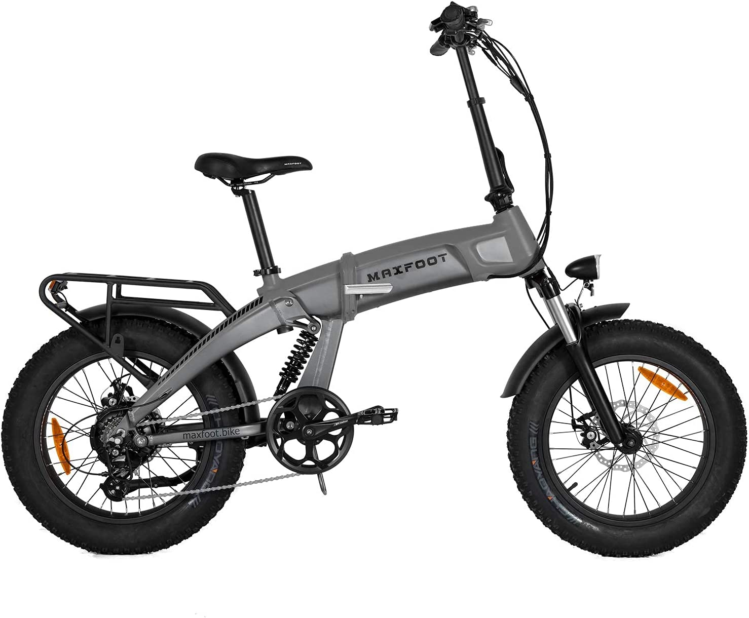 Maxfoot 1000W Folding Electric Bike Challenge the lowest Special Campaign price Suspens for Dual 20