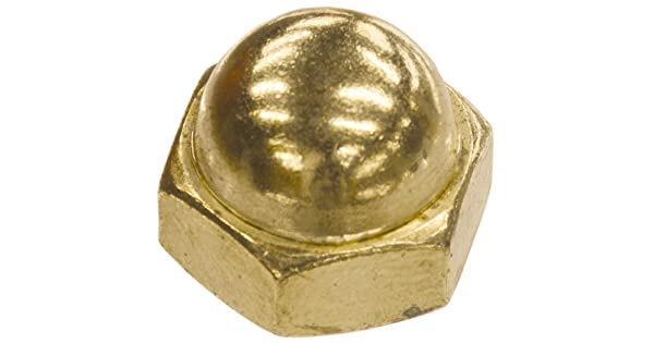 The Hillman Group 150472 Brass Acorn Nuts 100-Pack 1//4-20-Inch