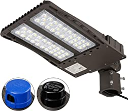 LEONLITE Ultra Bright LED Parking Lot Light with Photocell, 150W (450W Equiv.) Slipfitter Mount Area Lighting Fixture, Dusk-to-Dawn, DLC & ETL Listed, for Docks, Driveways, Backyards, 5-Year Warranty
