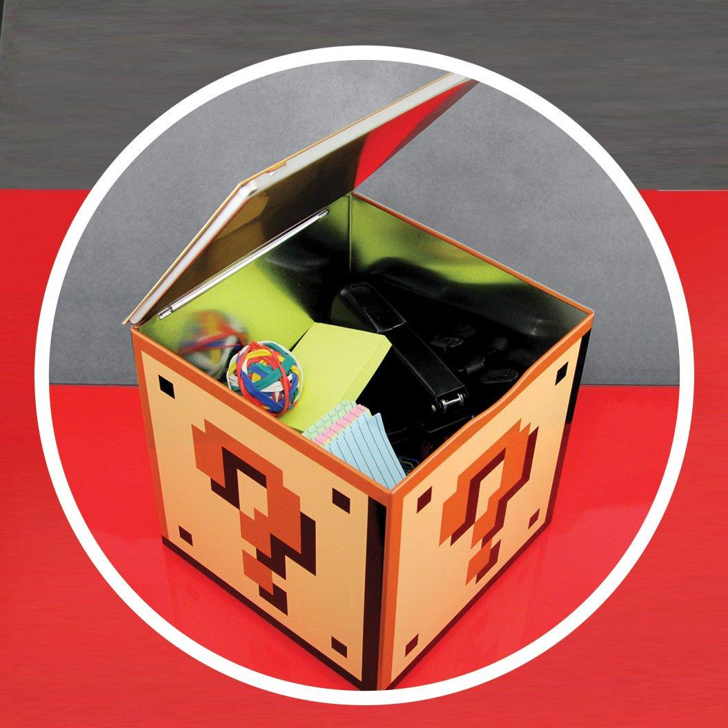 Paladone Caja Almacenaje Super Mario Bros, Metal, Amarillo ...