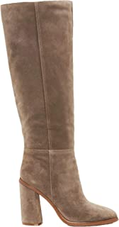 Vince Camuto Dameera Rich Suede Covered Block Heel Knee High Dress Boots