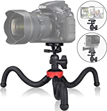 3in1 Action Camera DSLR Phone Portable Flexible Mini Travel Tripod Camcorder Projector Tabletop Stand Mount for Canon iPhone Webcam Youtuber Reviewer Vlogging Live Streaming Podcasting-13 inch