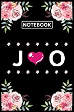 Notebook O J: Lined Awesome Gift for Monogram first Letter O J of name alphabet Flowers Notebook, Pretty Floral Diary Jour...
