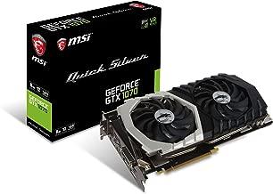 MSI Gaming GeForce GTX 1070 8GB GDDR5 SLI DirectX 12 VR Ready Graphics Card (GTX 1070 Quick Silver 8G OC)