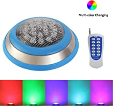 RSN LED Swimming Pool Light,54W RGB Color Changing with RF Remote Controller,LED Underwater Lights for Decorating Pool,Rockery,Fountain,Pond (54)
