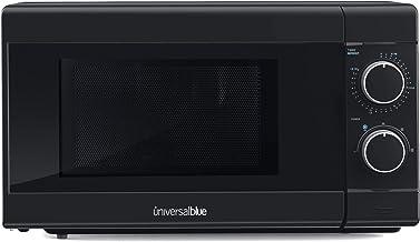 UNIVERSALBLUE | Microondas negro | 700W de potencia | Capacidad 20L |Temporizador | Función descongelar | 5 potencias | Easy Clean