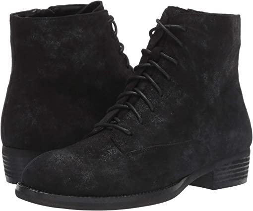 Black/Silver Rory Suede