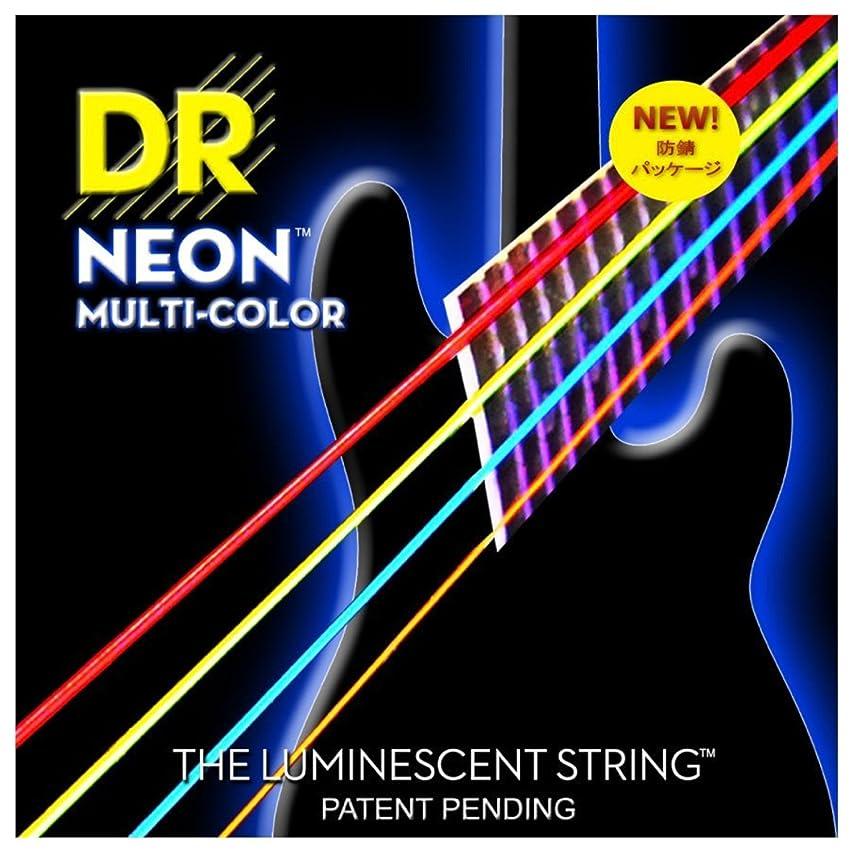 修正する曖昧な不良DR ベース弦 NEON ニッケルメッキ マルチ カラー コーテッド .045-.105 NMCB-45