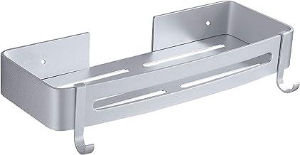 Hoomtaook douchebak zonder boren Douchebakplank spijkervrij geen beschadigingen, aluminium oppervlak roestvrijstalen mand ...