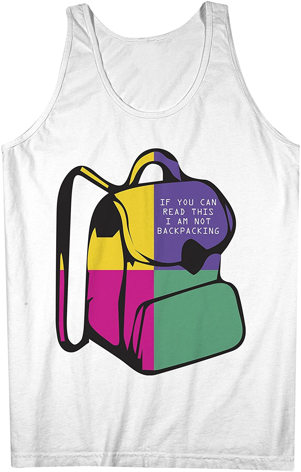 If You Are Reading This I Am Not Backpacking おかしいです Traveling 男性用 Tank Top Sleeveless Shirt