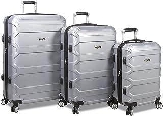 Dejuno Logan 3-Piece Hardside Spinner Combination Lock Luggage Set-Fuchsia