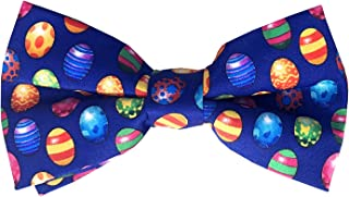 Jacob Alexander Men's Colored Easter Eggs Blue Pre-Tied Clip-On Bow Tie