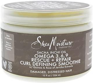 Shea Moisture Sacha Inchi Oil Omega 3, 6, 9 Resue + Repair Curl Defining Smoothie 12 oz