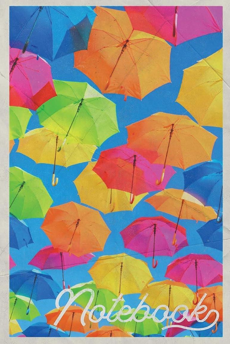 州ご予約死傷者Notebook: Paraguas Colorful Composition Book Journal Diary for Men, Women, Teen & Kids Vintage Retro Design Street Art