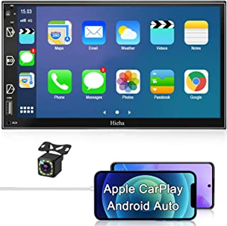 $156 » Car Stereo Double Din Car Multimedia Player-Apple Carplay and Android Auto, in-Dash Digital Media, 7 Inch Touchscreen, Voi...