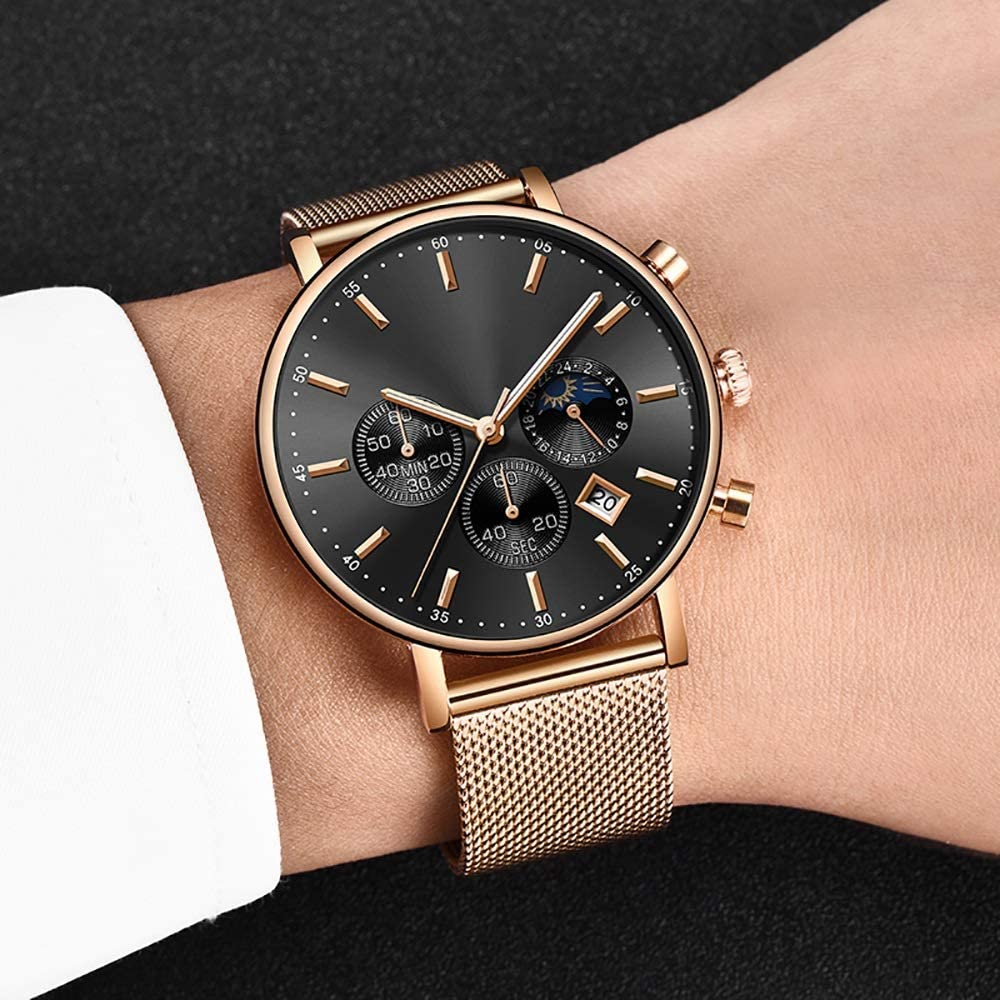 Voigoo Clock Rose Gold Women Inventory cleanup selling Max 79% OFF sale Business Quartz Ladie Watches Watch