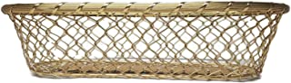 LL Imports Chain Link Metal Large French Bread Basket, Storage Basket, Centerpiece, 17 inch (Gold)