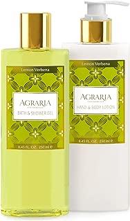 AGRARIA Lemon Verbena Luxury Body Lotion and Shower Gel Duo
