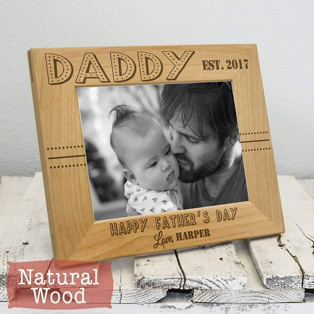 Personalized Dad San Antonio Mall Picture Frame - Da Fathers overseas Happy Day-Thoughtful
