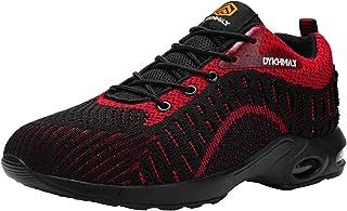 DYKHMATE Zapatillas de Seguridad Mujer Ligero Colchón de Aire Zapatos de Seguridad Trabajo Transpirable Punta de Acero Cal...