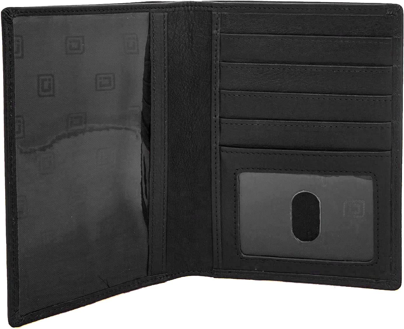The  White Black and Copper Minimalist Leather Long Travel Wallet Passport Holder Collection