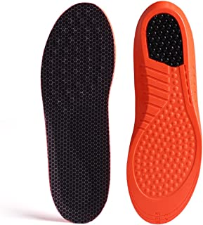 GAOAG Shock-absorptation Breathable Insole Orthotics Gel Sports Comfort Shoes Insole Neutral Arch Replacement Shoe Insole/Insert (Men's(8-9) Women's(9-10.5)