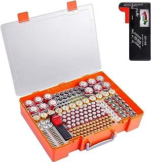 Battery Storage Organizer Holder, 226 Battery Organizer Case with Battery Tester. Batteries Storage Containers Box Fits fo...