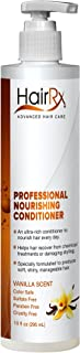 HairRx Professional Nourishing Conditioner with Pump, Vanilla Scent, 10 Ounce
