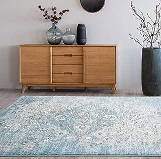 4620 Distressed Blue 7'10x10'6 Area Rug Carpet Large New