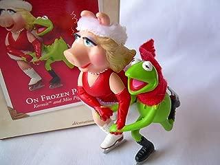 2003 Hallmark Ornament Kermit and Miss Piggy On Frozen Pond