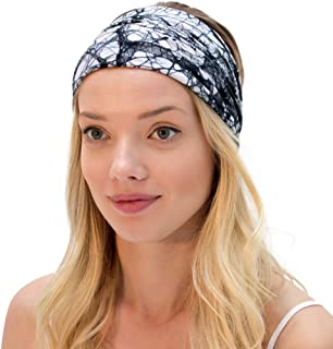 KOOSHOO Organic, Hand Dyed Twist Headband Stunning, Hand Dyed Organic Headwrap | Ethically Made | Sweat-Wicking Yoga Headband, Running Sweatband and Travel Bandana