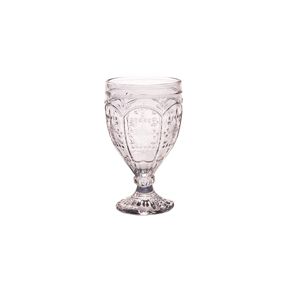 Fitz and Floyd 83-012 Trestle Collection Set of 4 Glass Goblets, 12-Ounce, Smoke