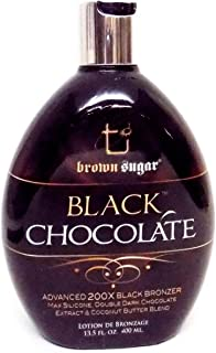 Brown Sugar BLACK CHOCOLATE 200X Black Bronzer – 13.5 oz. by Tan Inc.