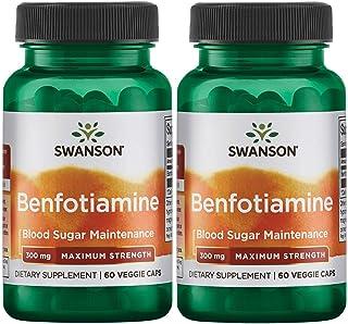 Swanson Benfotiamine - Maximum Strength 300 mg 60 Veg Caps 2 Pack