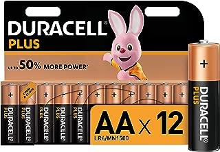 Duracell Plus AA Alkaline Batteries, 1.5 V, LR06 MX1500, Pack of 12