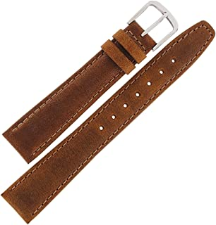 Hadley Roma MS881 20mm Mens Regular Tan Stitched Oiled Tanned Leather Watch Band