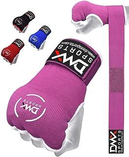 DMX Sports Gel Padded Inner Gloves Training Gel Elastic Hand Wraps for Boxing Gloves Quick Wraps Men & Women Kickboxing Muay Thai MMA Bandages Fist Knuckle Wrist Wrap Protector Handwraps