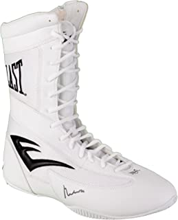 Muhammad Ali Autographed White Everlast Boxing Shoe - PSA/DNA Certified - Autographed Boxing Equipment