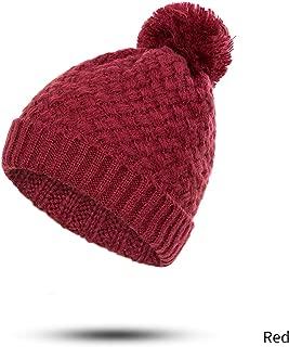 Winter Warm Women's Beanie Hat Solid Color Skullies Beanies Hat Pompom Female Plus Velvet Ring Scarf