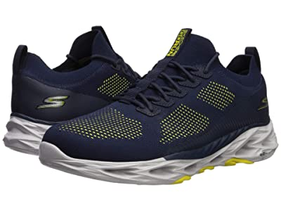 SKECHERS Go Run Vortex (Navy/Yellow) Men