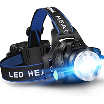 Helmet Lamp Head Torch 9 LED Waterproof Soft Air Fishing Light Camping 28