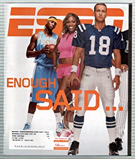 ESPN Magazine July 19, 2004 Carmelo Anthony Serena Williams Peyton Manning Cover VERY GOOD
