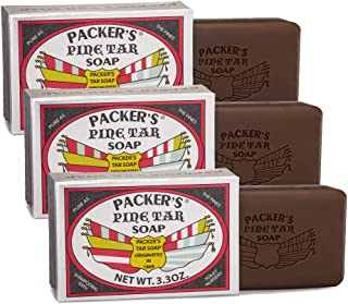 Packer's Pine Tar Soap 3 Pack | The Original Men's Bar Soap With Natural Pine Tar and Pine Oils | All Natural Antiseptic A...