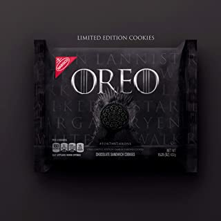 OREO Limited Edition Game of Thrones Themed Classic Chocolate Sandwich Cookies (15.25 oz. Package)